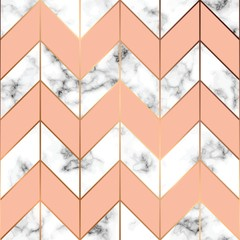 Vector marble texture, seamless pattern design with golden geometric lines, black and white marbling surface, modern luxurious background