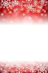 Red Snowflake Holidays Christmas Repeating Vector Background 2