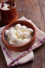 Mozzarella balls in brine