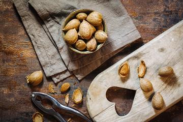 Fresh raw almonds