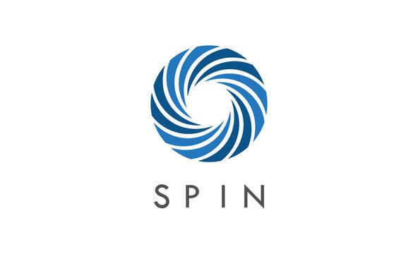 circle spin vector logo