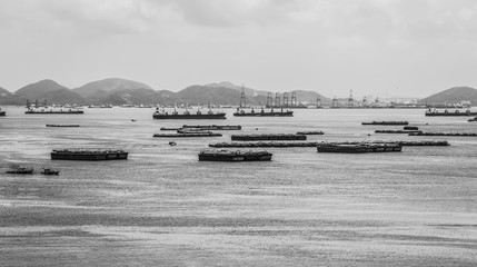 Cargo Ship Parking at the Jetty, Thailand Sea