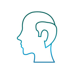man head icon over white background vector illustration