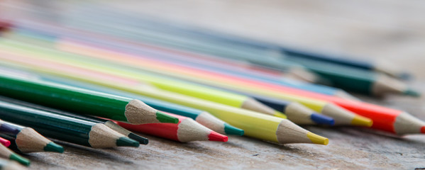 Set of colorful pencils