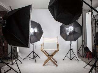 Empty photo studio