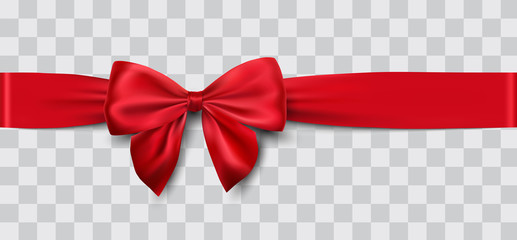 red satin ribbon and bow vector illustration Fotoväggar