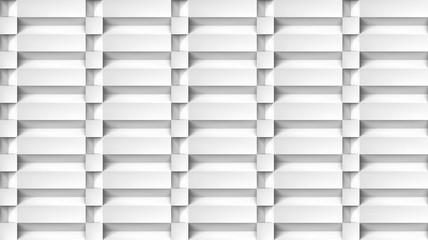 Volume realistic texture, cubes steps, white 3d geometric pattern, design vector light background