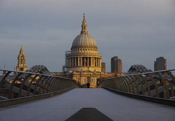The Millennium Bridge and St.Paul's Cathedral, London