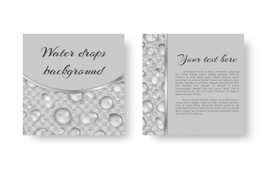 Birthday greeting card design with sparkling dew drops for festive decoration