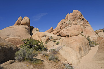 Bare and Weathered Granite in the Desert
