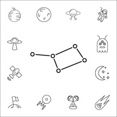 constellation icon. Set of space icons. Signs, outline symbols collection, simple thin line icons for websites, web design, mobile app, info graphics