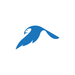 fly bird logo template