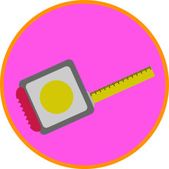 Tape Measure, flat art vector style object.