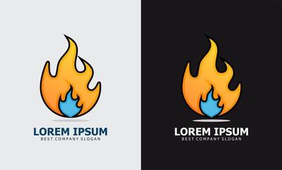 fire cartoon logo