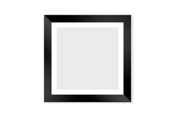 Realistic Black Picture Frame on Wall