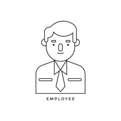 Employment icon vector design work illustration