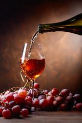 Wine and grape.