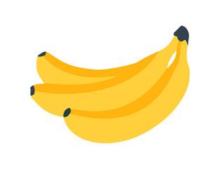 Banana icon. Fresh banana on white