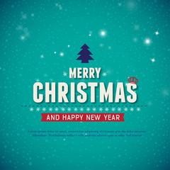 beautiful merry chrismas card desgin