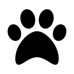 Cat, paw print. Flat icon, symbol. Vector
