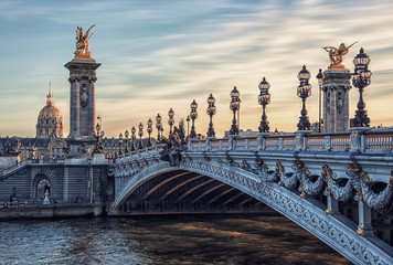 Foto auf Acrylglas Bridges Alexandre III bridge in Paris