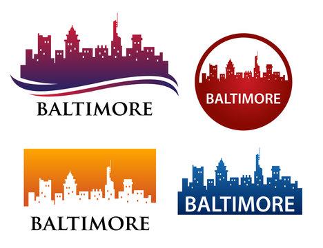 Baltimore Skyline Logo Template