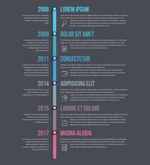 Vertical Timeline Infographics