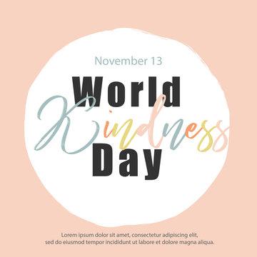 world kindness day banner, vector illustration