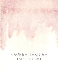Ombre watercolor pink. Hand drawn  texture.