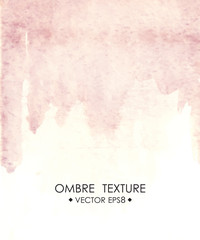 Hand drawn ombre texture. Watercolor painted light blue background with white space for text.