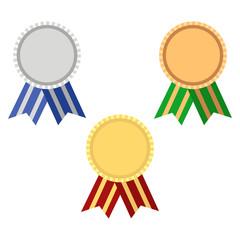 Award rosette gold