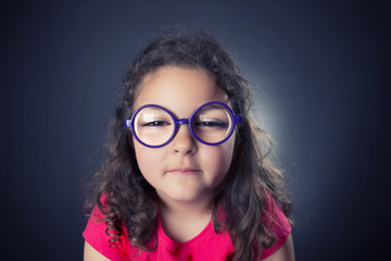 Little myopic girl