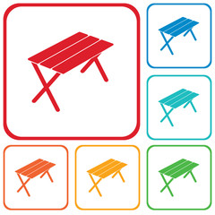 Camping table icon