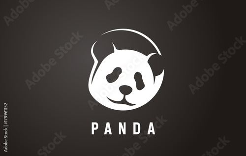 Pandas Face Logo In The Negative Space Panda Logo Logo For Animal