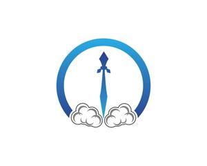 Rocket faster logo design template