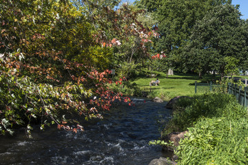 River in Minnehaha falls in Minneapolis, USA