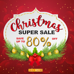 Christmas sale and seasonal discount templates. banners, flyers, posters for shopping store discount background