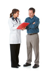 Doctor: Showing Positive Results to a Patient