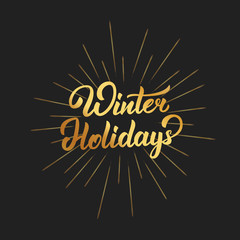 Happy new year photos royalty free images graphics vectors winter holidays text lettering design christmas and new year greeting typography of gold gradient and m4hsunfo