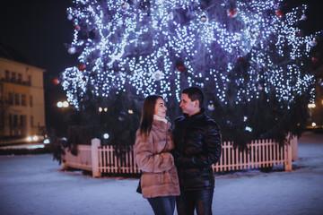 Couple and The Christmas tree