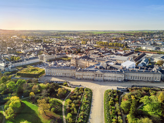 Wall Mural - Aerial view of Palace of Compiegne, Hauts-de-France, France