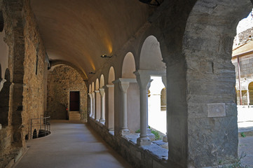 Medieval monastery Sant Pere de Rodes in Spanish Catalonia