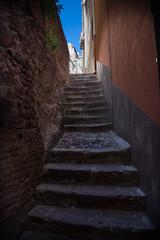 Altstadt von Bosa in Sardinien, Italien