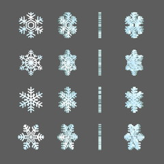 Frosty winter festive snowflakes rotation spin fx frames.