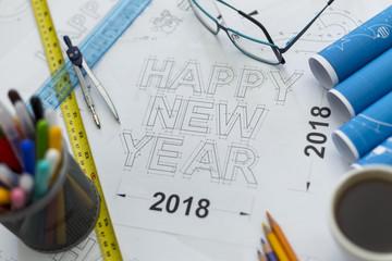 Happy new year blueprint