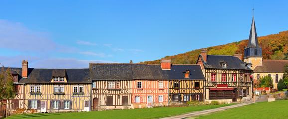 Maisons à colombage au Bec-Hellouin, Normandie, France