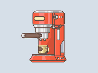 Coffee maker. Coffee machine vector illustration