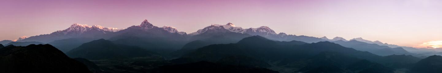 Panoramic view of Himalayas, Nepal
