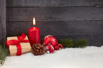 Christmas advent with candle