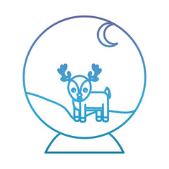 decorative christmas ball with deer icon over white background vector illustration